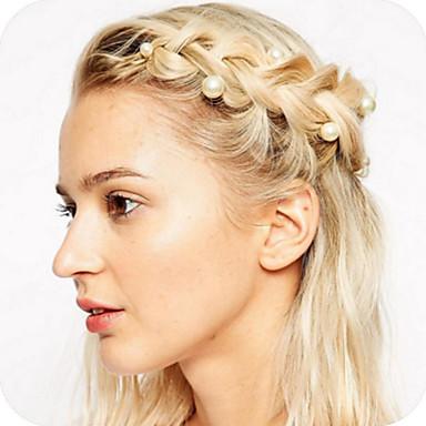 linda delicada 5pcs parafuso cabelo pérolas rotativas