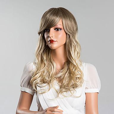 Klassisch Wellen Echthaar Perücken Gute Qualität Alltag Strawberry Blonde / Hellblond