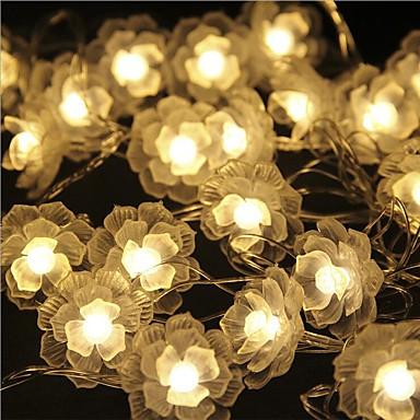 Cordões de Luzes 40 LEDs Branco Quente Controlo Remoto Regulável Impermeável Cores Variáveis Conetável DC 5V DC5