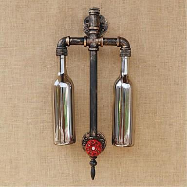 スイッチ水道管ワインボトル壁ランプグレーとテーマにしたレストランバーの鉄 - アメリカbgb007 E27 6ワットのAC 220V-240V
