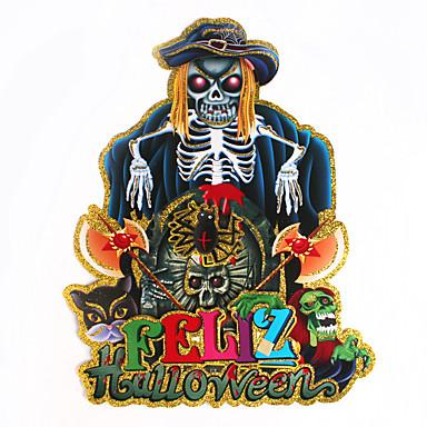 1pc hallowmas skelet spook hoofd sticker versieren hallowmas kostuum partij