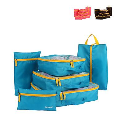 6セット 旅行かばん 旅行かばんオーガナイザー パッキングキューブ 小物収納用バッグ 多機能 大容量 クロス メッシュ生地 トラベル