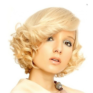 Marilyn Monroe Fashion Curly Wig Cosplay Hair Full Wigs Short Blond