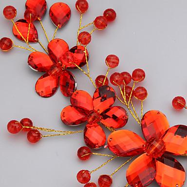 Gyöngyutánzat Akril Virágok Sisak