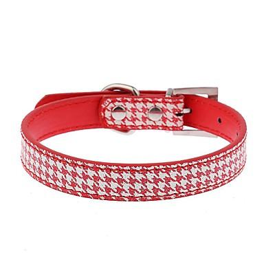 Kat / Hund Krave Justerbare / Uttrekkbar / Håndfri / Fritid Geometrisk PU Leather Svart / Rød / Blå