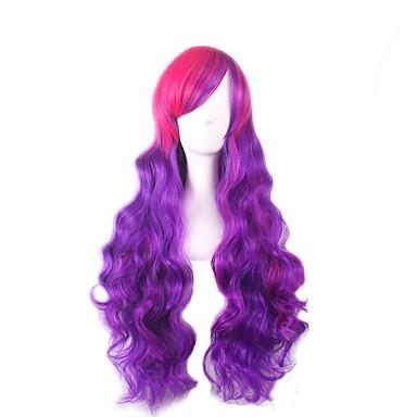 Naisten Synteettiset peruukit Kihara Purppura Liukuvärjätyt hiukset Cosplay-peruukki Rooliasu peruukki