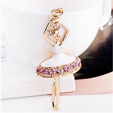 bailarina de niña con las llaves del coche llavero