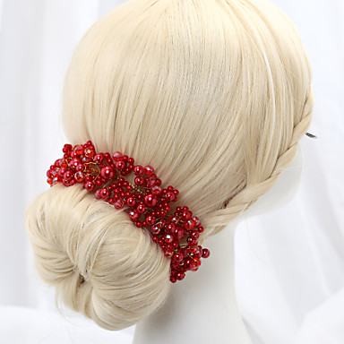 Crystal Imitation Pearl Alloy Flowers 1 Wedding Special Occasion Headpiece
