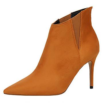 女性用 靴 ポリエステル 冬 秋 ブーツ のために カジュアル ジンジャー コーヒー レッド カーキ色 ライトグレー