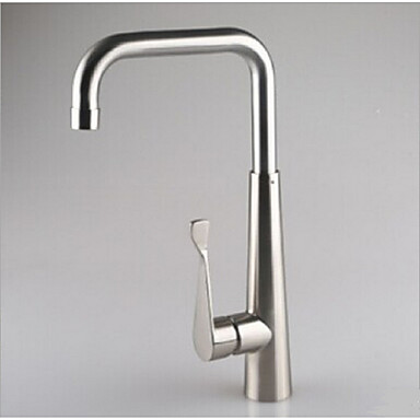 Keuken Kraan - Hedendaagse / Art Deco / Retro / Modern Nikkel gepolijst Standard uitloop Middenset / Single Handle Een Hole