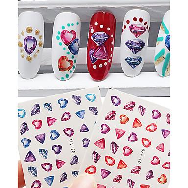 2 Nail Art Sticker Decalques de transferência de água maquiagem Cosméticos Prego Design Arte