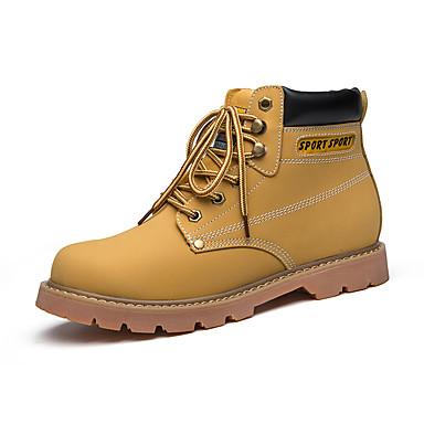 Miehet kengät Tekonahka Kevät Syksy Talvi Comfort Maiharit Bootsit Käyttötarkoitus Urheilullinen Kausaliteetti Keltainen Ruskea Tumman