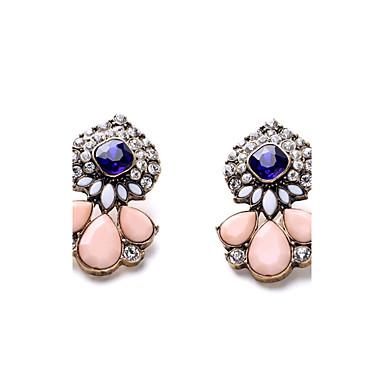 Mujer Diamante sintético Pendientes cortos - Bohemio, Europeo, Moda Rosa Para Fiesta Diario Casual