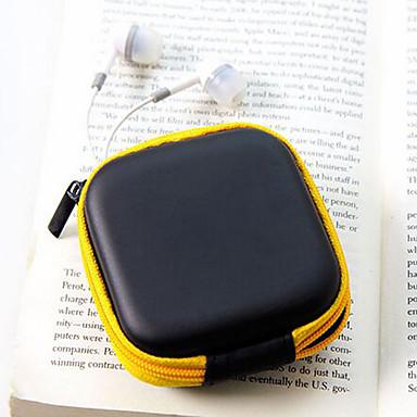 reizen leer materiaal hoofdtelefoon veranderen portemonnees (willekeurige kleur)
