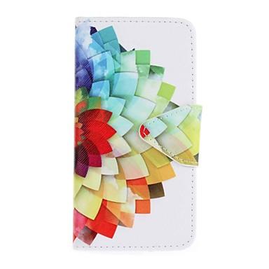 Hülle Für Samsung Galaxy A5(2016) A3(2016) Kreditkartenfächer Geldbeutel mit Halterung Muster Ganzkörper-Gehäuse Blume Hart PU-Leder für