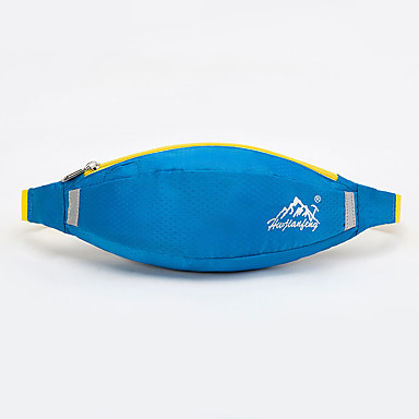 ユニセックス バッグ オールシーズン ナイロン ウエストポーチ のために カジュアル スポーツ グリーン ブルー ダークレッド ダークグレイ ライトグリーン