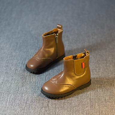 Poikien Kengät Nahka Comfort Bootsit Käyttötarkoitus Kausaliteetti Musta Ruskea