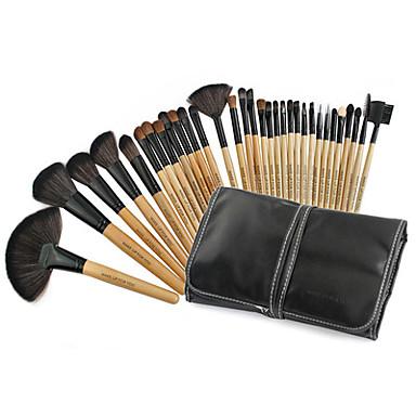 32pcs Pinceles de maquillaje Profesional Sistemas de cepillo Pincel de Pelo de Cabra Portátil / Profesional Madera