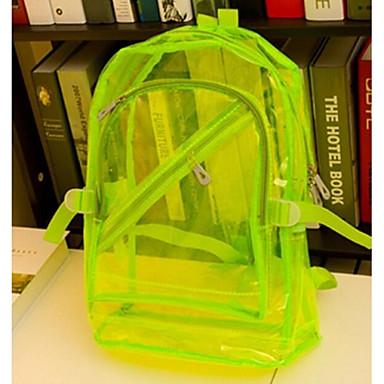 Vrouw Rugzak PVC Causaal Oranje Paars Rood Blauw Licht Groen