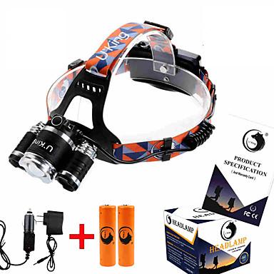 billige Lommelykter & campinglykter-ZQ-G808 Lykte stropper Frontlys til sykkel 8500LM LED Cree® XM-L T6 1 emittere 4.0 lys tilstand Justerbart Fokus Mulighet for demping Lygtehoved Camping / Vandring / Grotte Udforskning Dagligdags