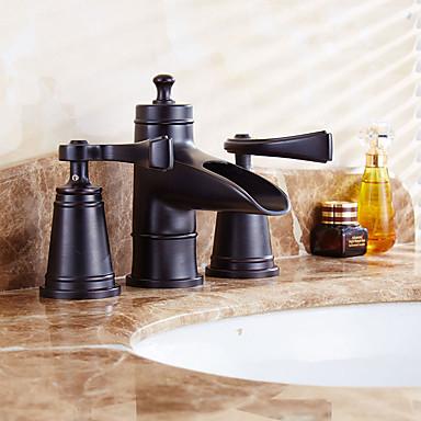 Baderom Sink Tappekran - Moderne / Art Deco / Retro Antikk Kobber Udspredt Messing Ventil