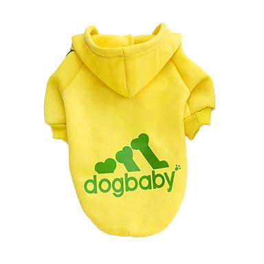 Perro Saco y Capucha Ropa para Perro Un Color Gris Amarillo Rojo Negro Algodón Disfraz Para mascotas Hombre Mujer Moda