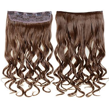 κλιπ σε επεκτάσεις για κυματιστά μαλλιά κλιπ για τα μαλλιά μεσαίου καφέ