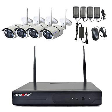 strongshine® 720p / 960p / 1080p megapixeles vezeték nélküli IP kamera és 4 csatornás vezeték nélküli 2.4G NVR szett