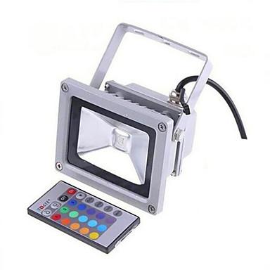 1pc 10 W LED-lyskastere / plen Lights Vanntett / Fjernstyrt / Mulighet for demping RGB 85-265 V Utendørsbelysning / Courtyard / Have