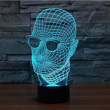 1 stk Julelys Dekorations Lys Natlys Sensor Dæmpbar Vandtæt Farveskiftende LED Moderne / Nutidig