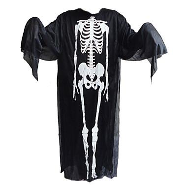 1pc dia das bruxas roupas e luvas de fantasmas e gritar máscara de esqueleto