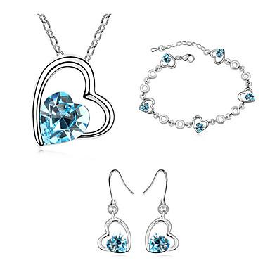 Dames Sieraden Set Kristal Modieus Dagelijks Oorbellen Kettingen Armband Kostuum juwelen