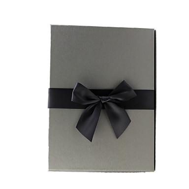 koko 29,0 * 20,5 * 6,0 cm hopeanharmaa suorakulmio piirustus paperi liikelahja lahjapakkaus