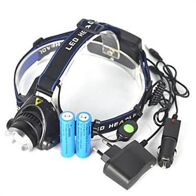 Pandelamper LED 5000 lm 1 Lys Tilstand Lygtehoved / Super let Camping / Vandring / Grotte Udforskning / Cykling / Jagt