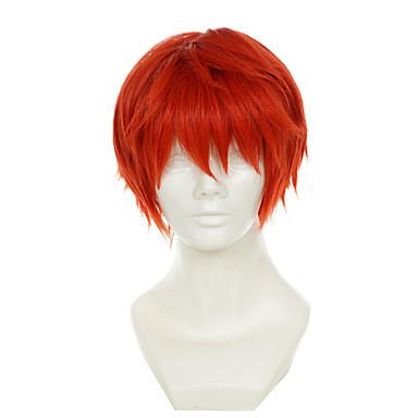 Pelucas sintéticas / Pelucas de Broma Recto Pelo sintético Rojo Peluca Mujer Sin Tapa Rojo