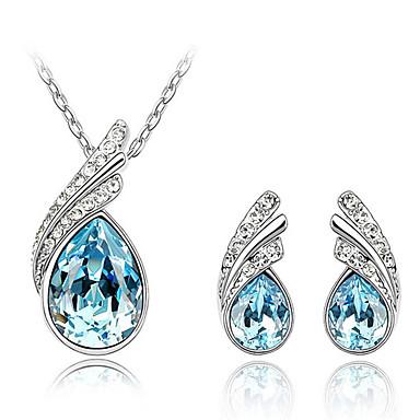 Sieraden Kettingen / Oorbellen Sieraden Set Kristal Modieus Dagelijks 1 Set Dames Marineblauw / Rood Giften van het Huwelijk