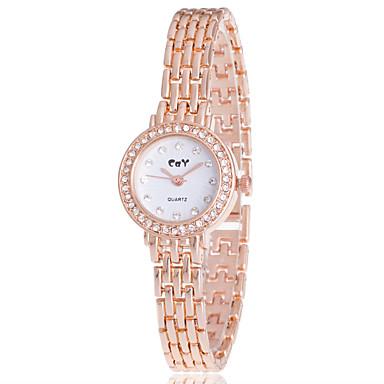 Dames Gesimuleerd Diamant Horloge Polshorloge Armbandhorloge Dress horloge Modieus horloge Kwarts imitatie Diamond Legering Band