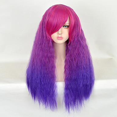 Synthetische Haare Perücken Locken Gefärbte Haarspitzen (Ombré Hair) Karnevalsperücke Halloween Perücke Natürliche Perücke Sehr lang Lila