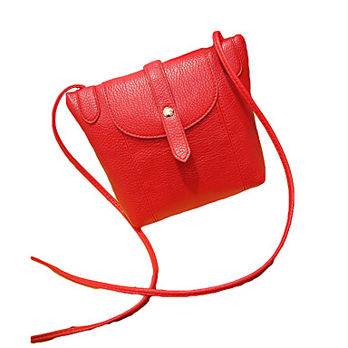 女性用 バッグ PU クロスボディーバッグ リベット のために オフィス&キャリア ベージュ / グレー / レッド