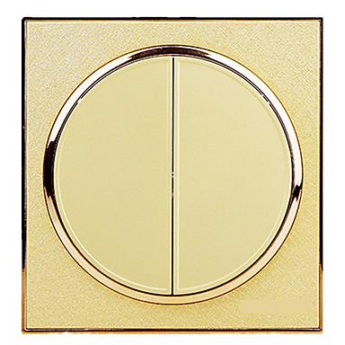 ダブル86型壁スイッチを充電さerkai円形シャンパンジン