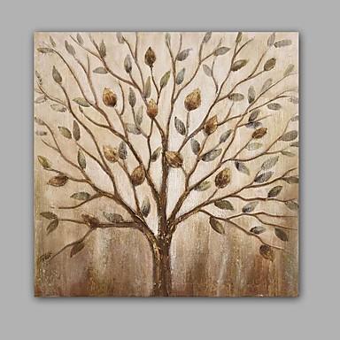Pintados à mão Abstracto / Floral/Botânico Pinturas a óleo,Modern / Clássico 1 Painel Tela Hang-painted pintura a óleo For Decoração para