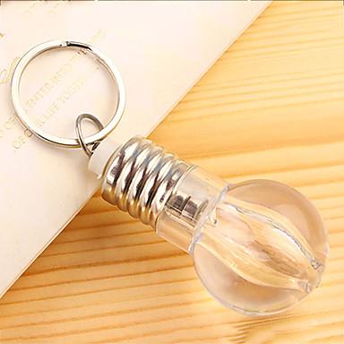 3pcs kreative lyspærer nøkkel spenne fargerike lyspære nøkkelring mini fargerik lyspære nøkkelknippet (tilfeldig farge) med batteri