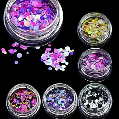 1 pcs Brillante Encantador arte de uñas Manicura pedicura Diario Glitters / Moda