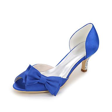Basique Chaussures Femme ouvert 06480281 mariage Brillante Bleu de Eté Paillette Satin Chaussures Bout Talon Noeud Printemps Aiguille Escarpin nYrYXq7