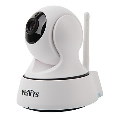 veskys®t2 720p 1.0mp wi-fiセキュリティIPカメラ(昼夜/モーション検知/リモートアクセス/ IRカット/プラグ&プレイ)