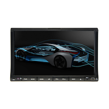 203DNAR 7 inch 2 Din Windows CE In-Dash DVD-soitin Sisäänrakennettu Bluetooth / iPod / RDS varten Universaali Tuki / SD / USB tuki