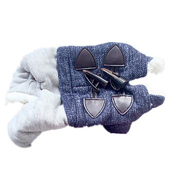 ネコ 犬 コート 犬用ウェア キュート ソリッド ブルー コスチューム ペット用