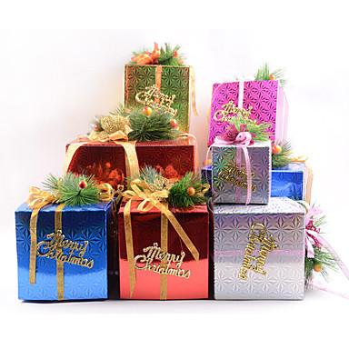 random väri estilo 5 unids DIY de dibujos Animados de navidad ao nuevo caja de regalo caramelo lindo cajas de torta la vspera de navidad