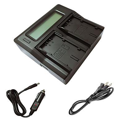 ismartdigi d28s lcd dual lader med bil ladekabel for panasonic md10000 DS25 ds27 MX3 MX500 GS15 kamera batterys