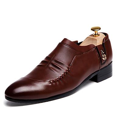 Oxford-kengät-Tasapohja-Miesten-PU-Musta Ruskea-Rento-Comfort